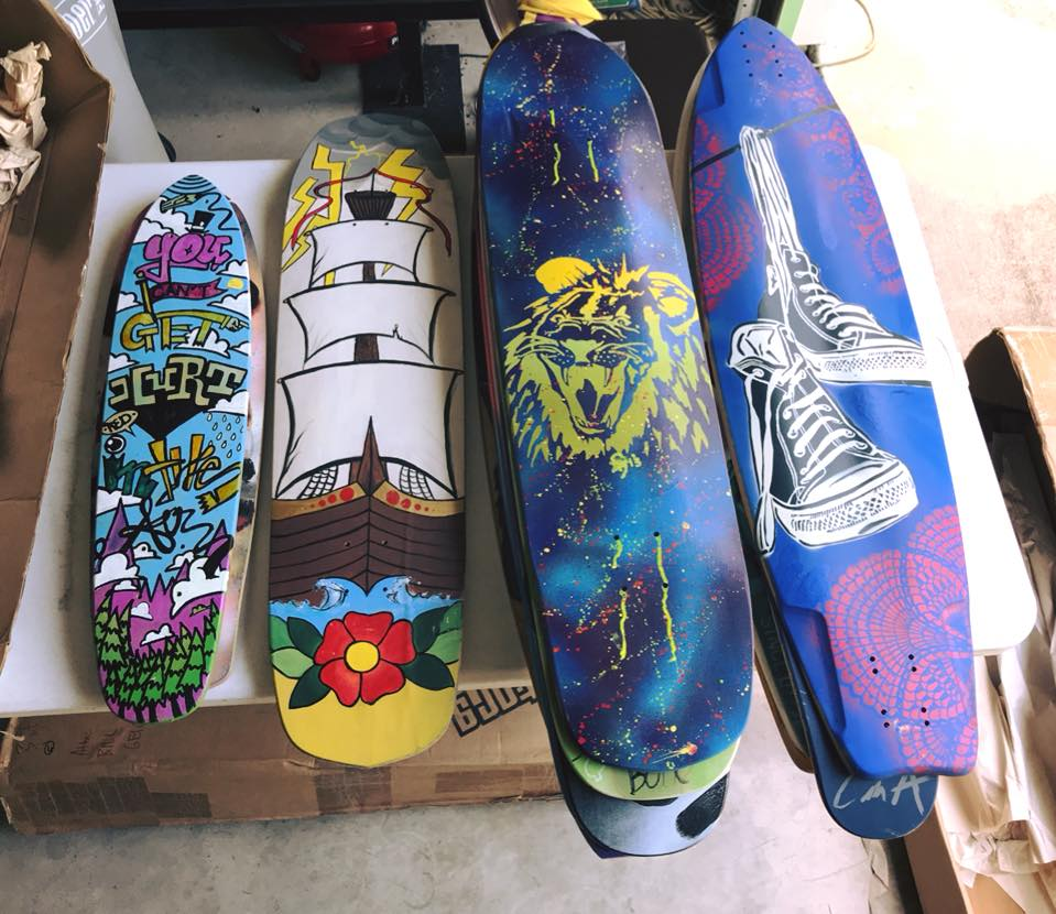 Boards donated by Bill Geiger