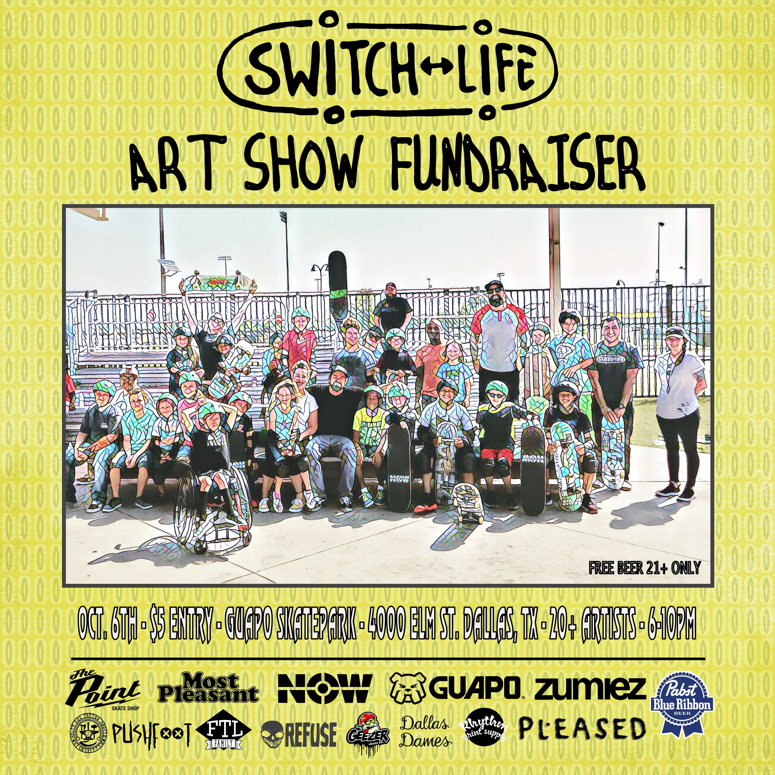 Switch Life Art Show Flyer