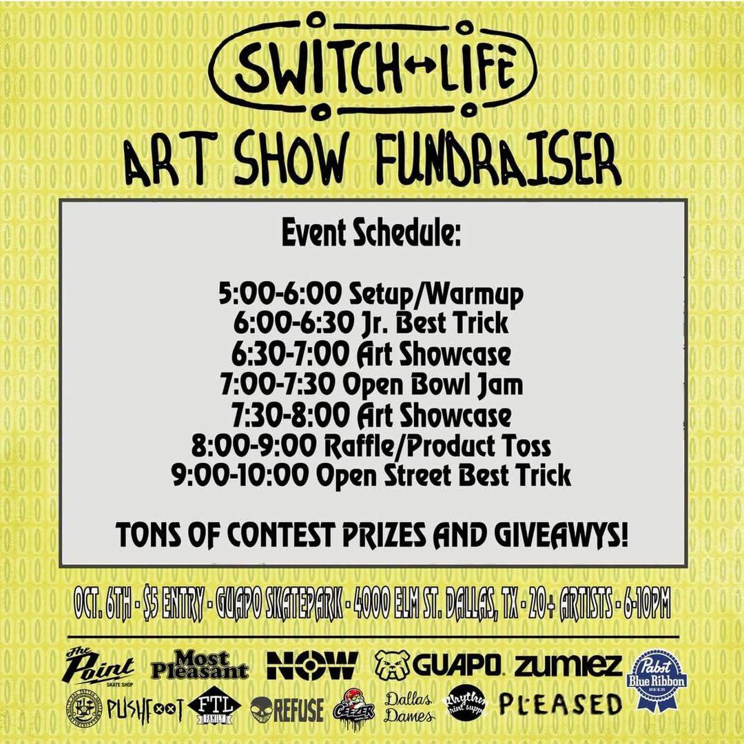 SwitchLife Art Show Schedule