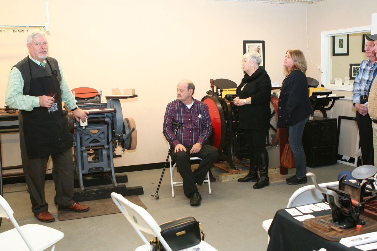 The restored press ready for printing