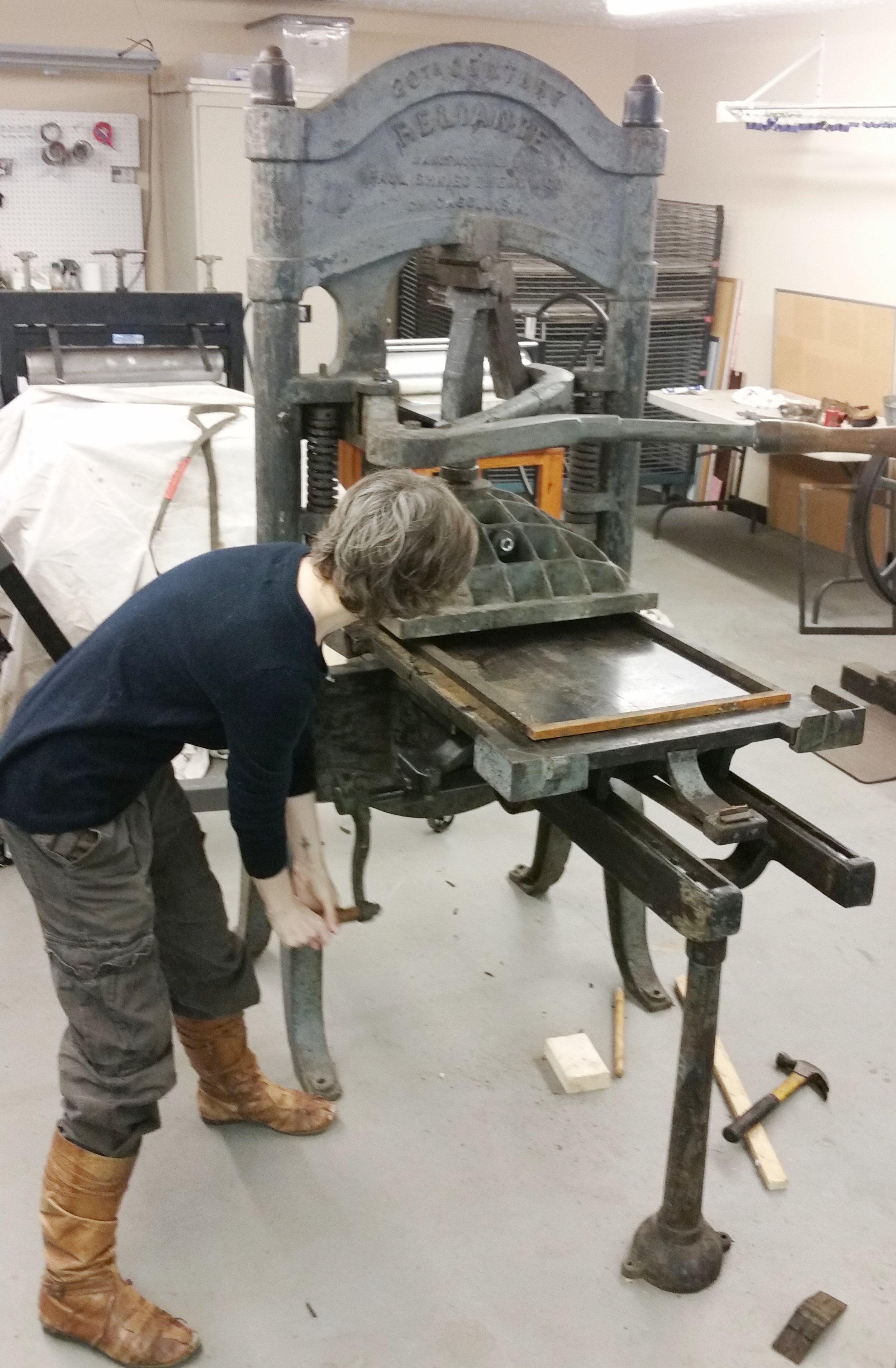 Dav testing the press bed slide action