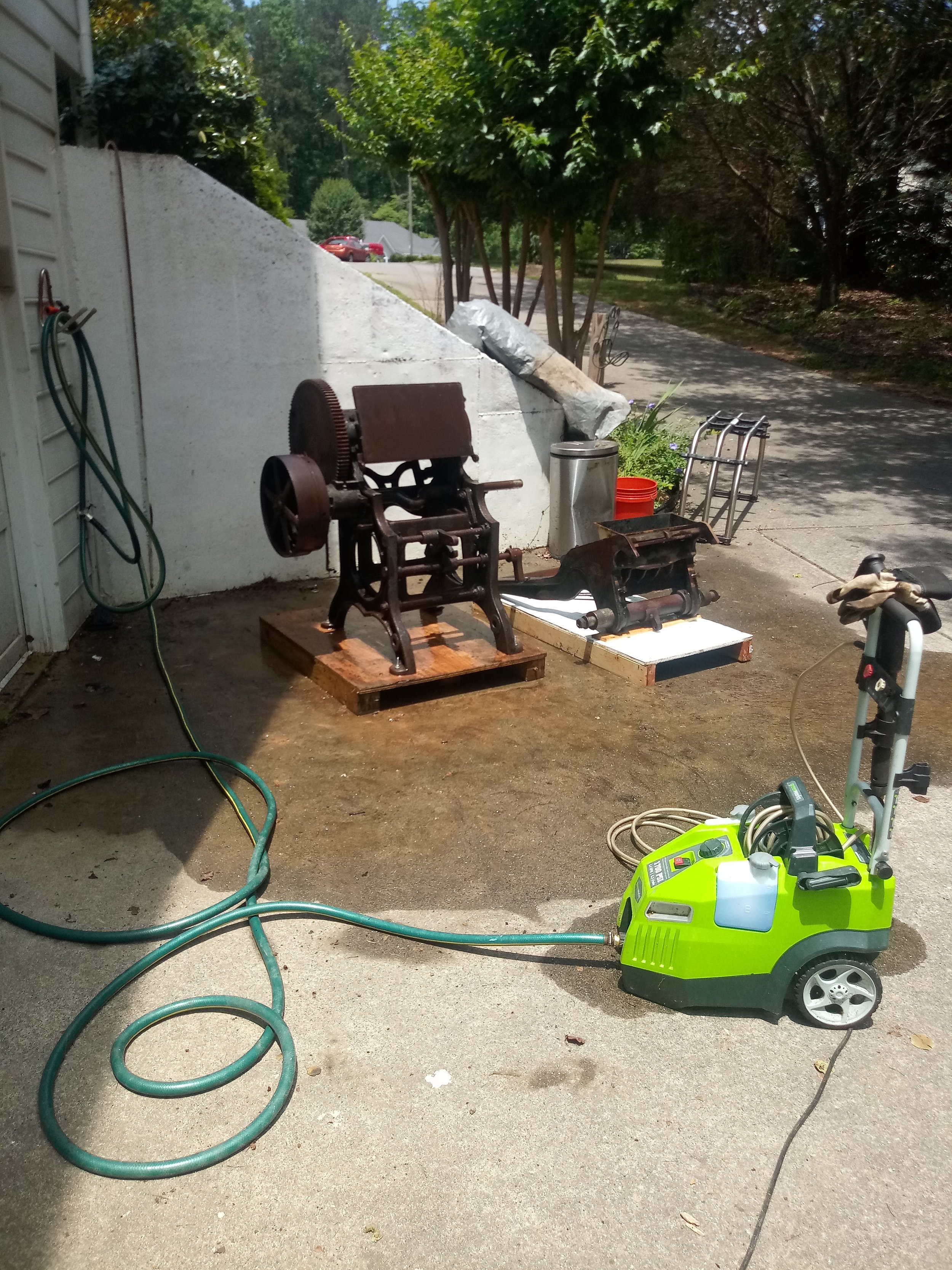 Using a pressure washer