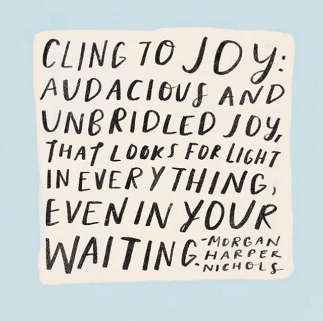 This is your reminder to choose joy today...and everyday. 🎨: @morganharpernichols