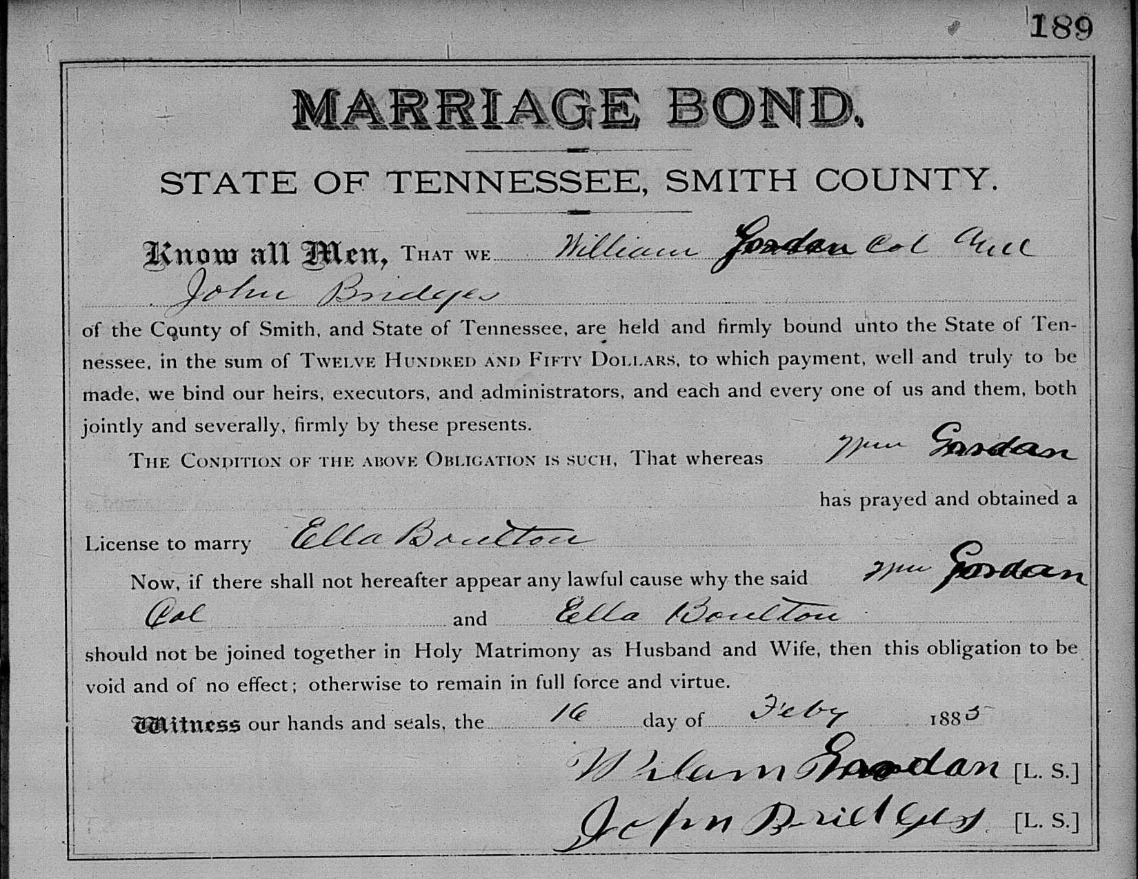 Source: Ancestry.com, Tennessee State Marriages, 1780-2002.