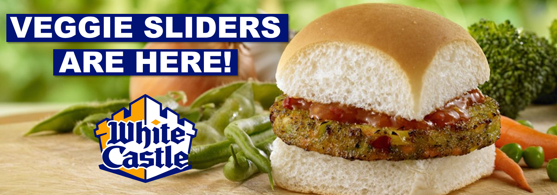 White Castle offers two types of vegan burgers.