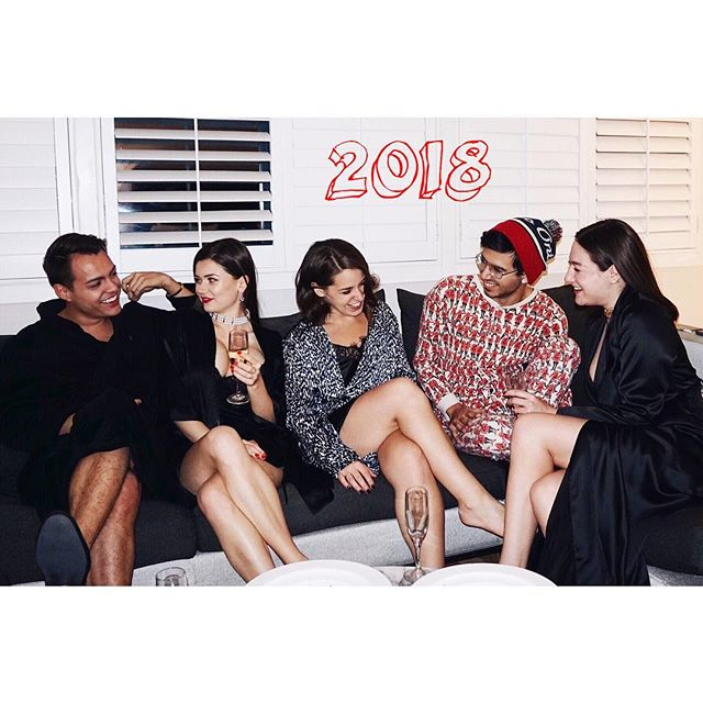 Our holiday card🎄🥂🍾 Friends, 2018.  Carefully crafted and filtered list. Through everything, last year, a year before, this year and many more to come.  #friends #toronto #2018 #gucci #agentprovocateur #laperla #hotellife