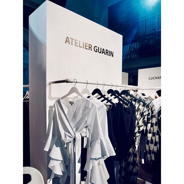 Yesterday at the @resetfsn - designer to the stars @atelierguarin in the center of attention both literally and figuratively. Pieces were selling off the rack! If you missed it, don't worry - you can still get your #tiff attire at @drakegeneralstore.  #atelierguarin #resetfsn #torontofashion