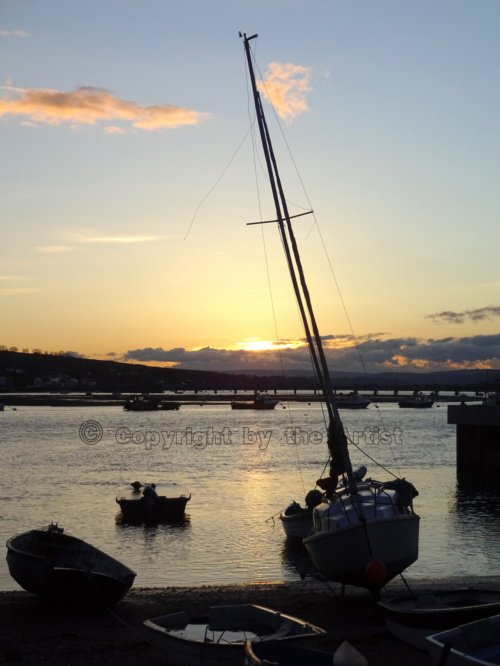 Teign at Sunset