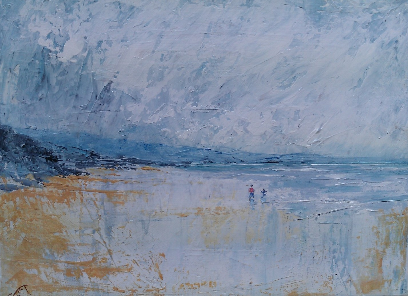 Walking on the Beach - Jacqui Thomson
