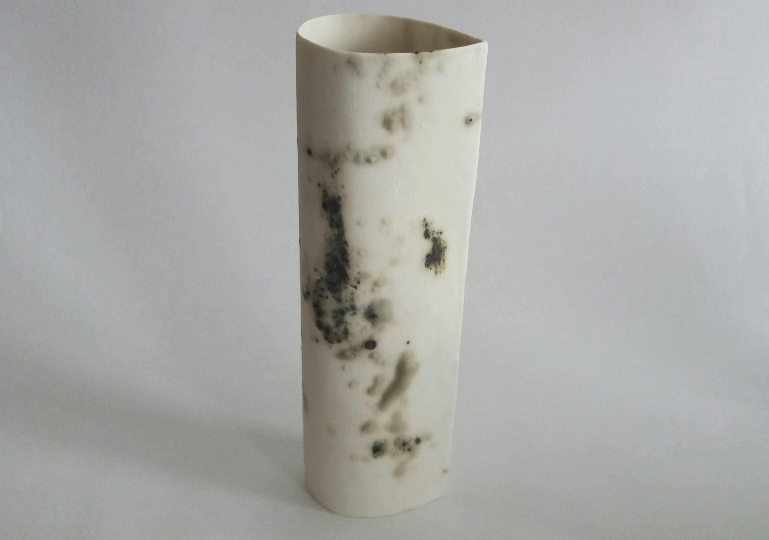 Tall Porcelain teardrop vessel