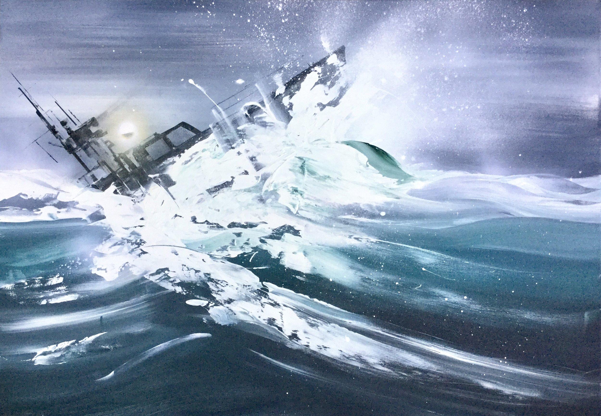 BOAT BATTLING THE WAVES Jirka.jpg