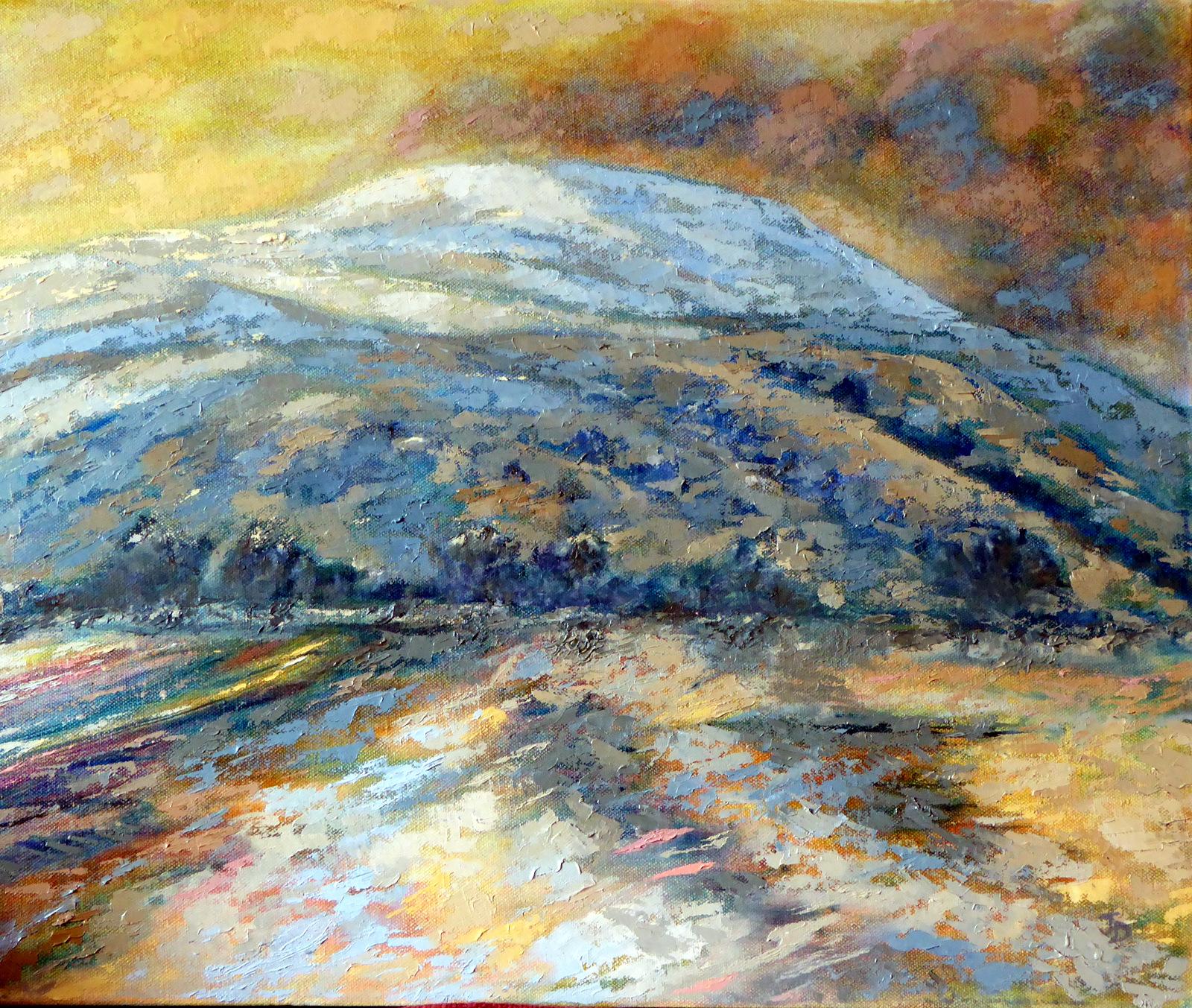 Snowscape by Jenny Day - Oil