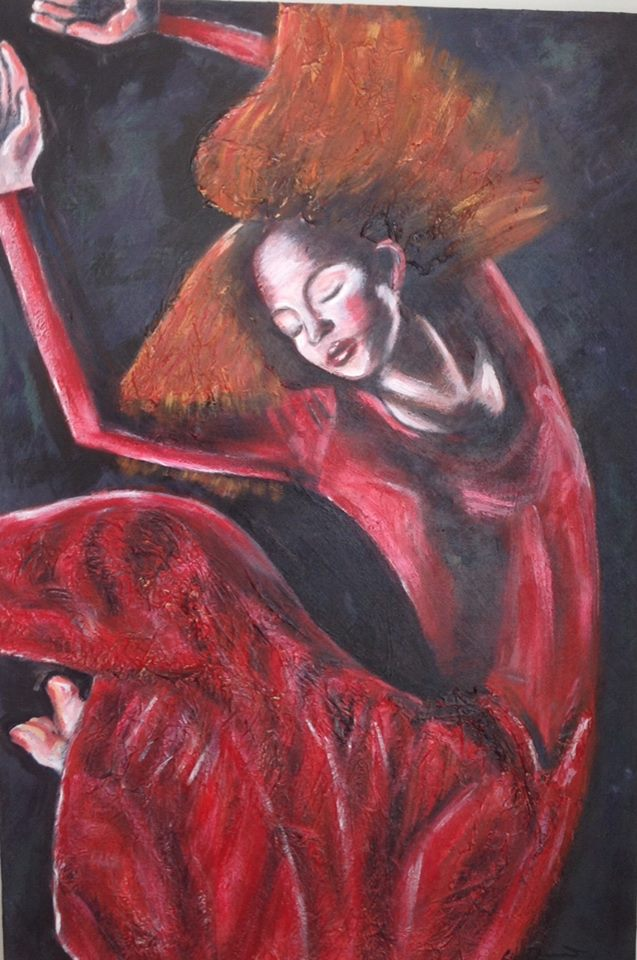 Liz Diamond  Dancing Girl in  Red.jpg