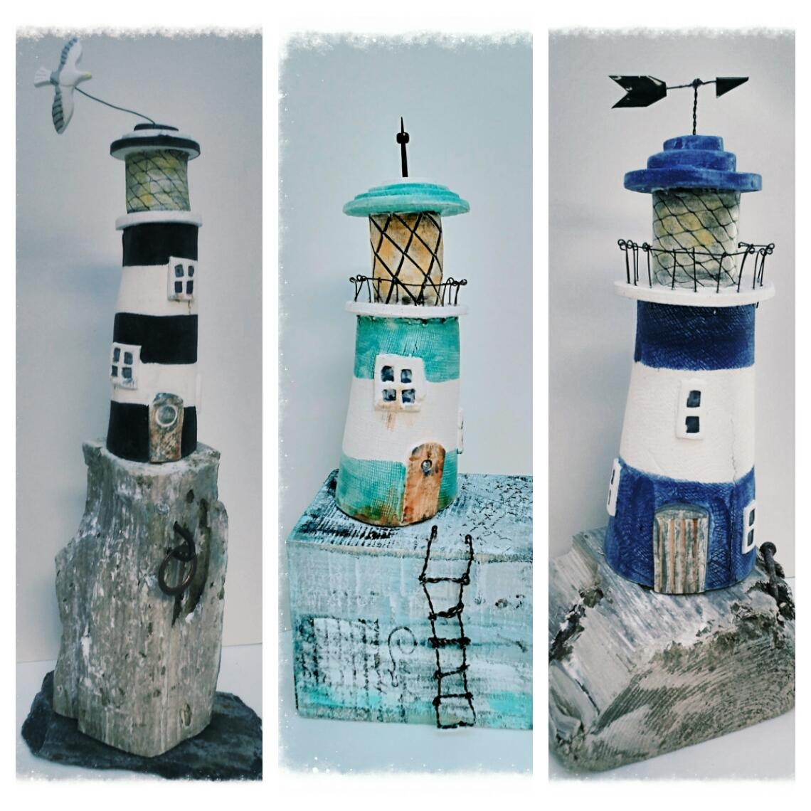 Lighthouses on Driftwood by Gail Trezise Multimedia Art Show.jpg