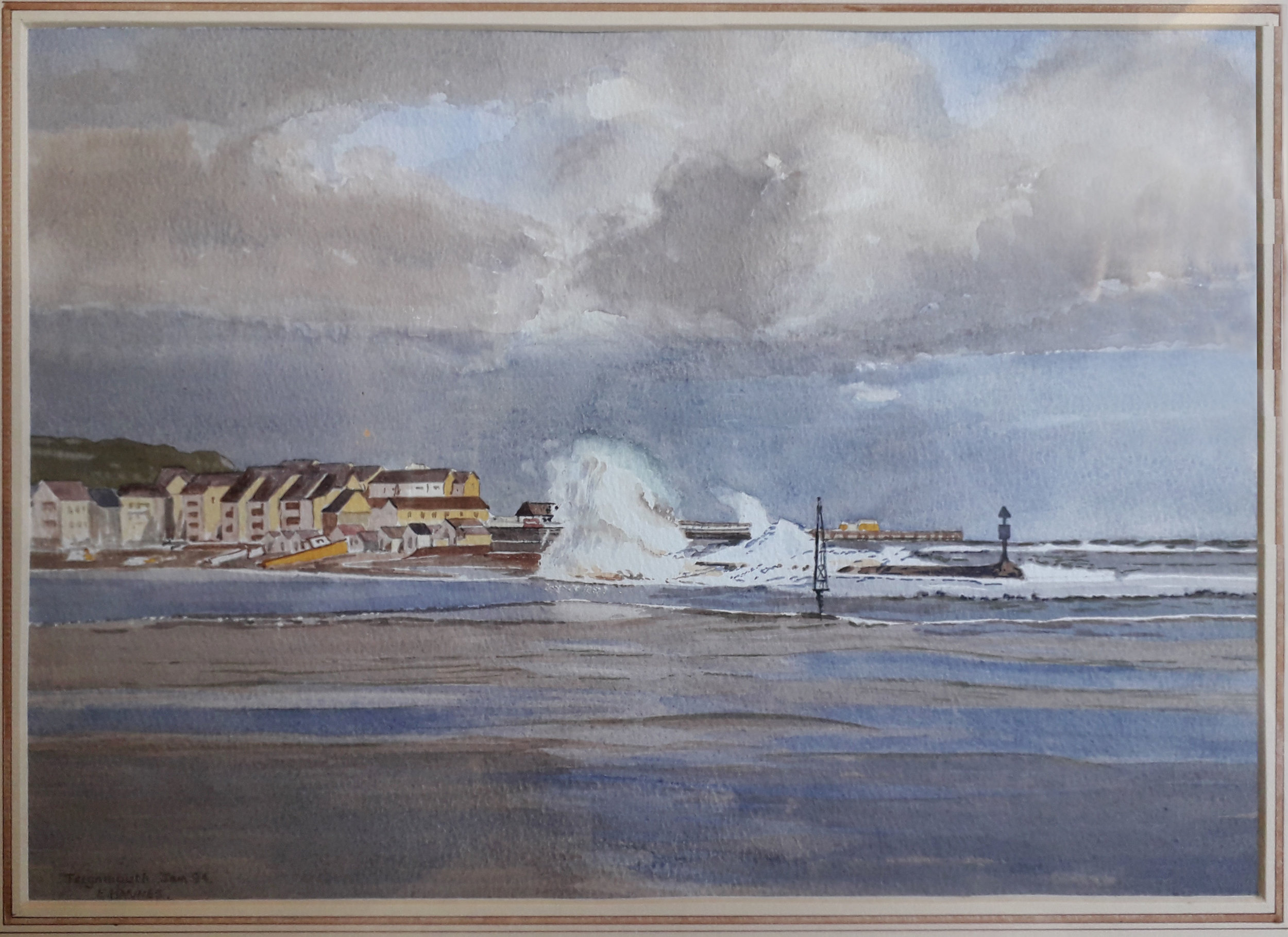 Eric Haynes - Waves Breaking over the Point Teignmouth.jpg