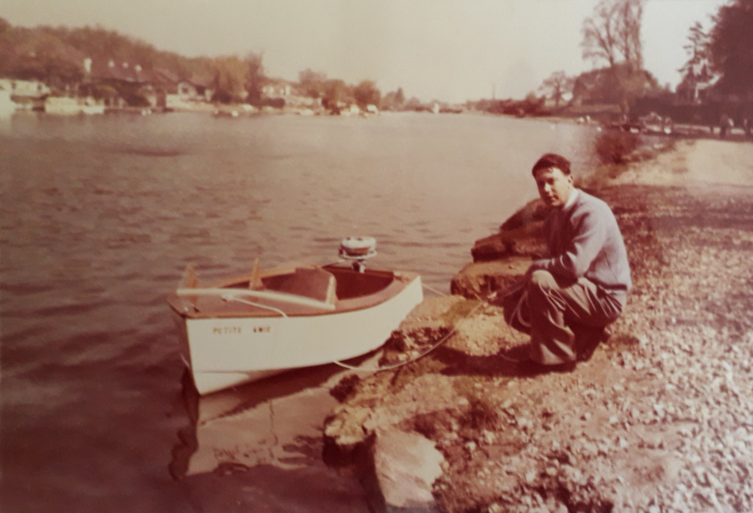 Eric Haynes - Dingy with new owner - early photo.jpg