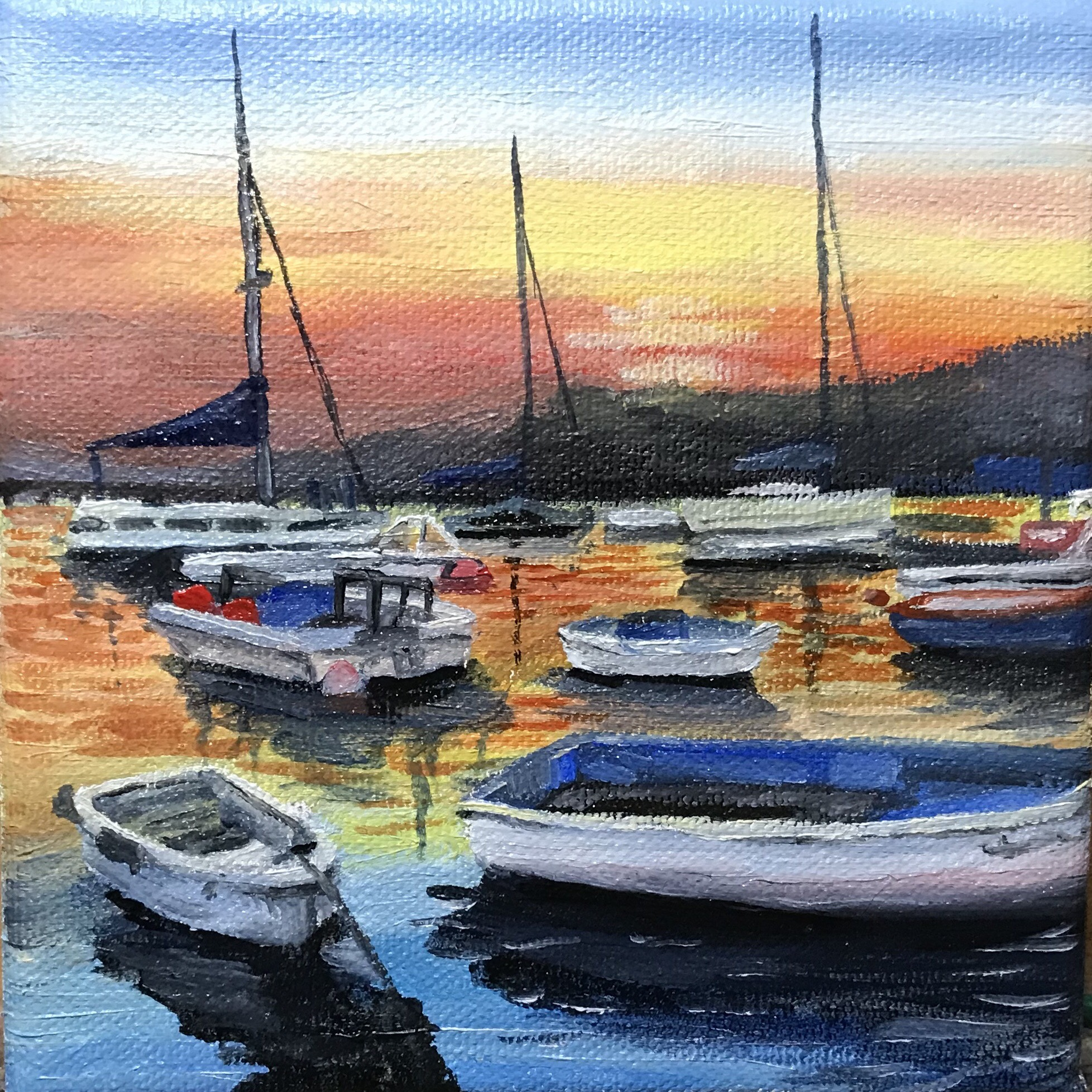 Amy Burton-Smith Sunset on the Teign.jpeg
