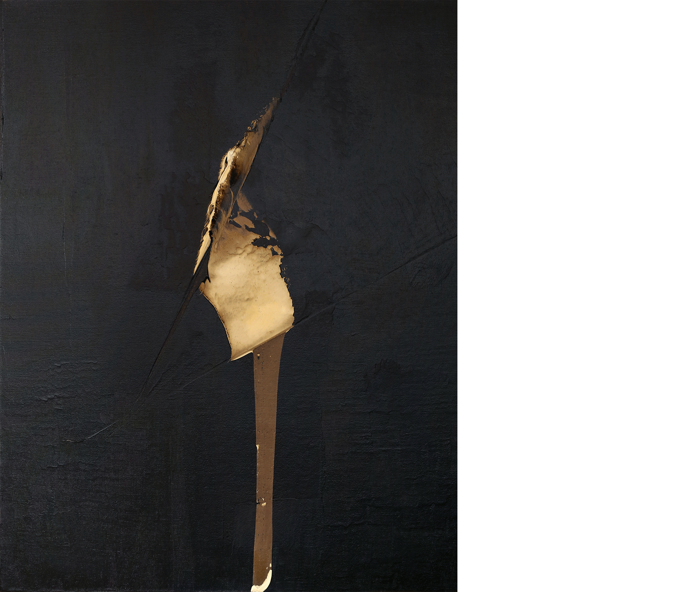 The Transition , 2015  oil and tar on canvas  48 x 38 inches