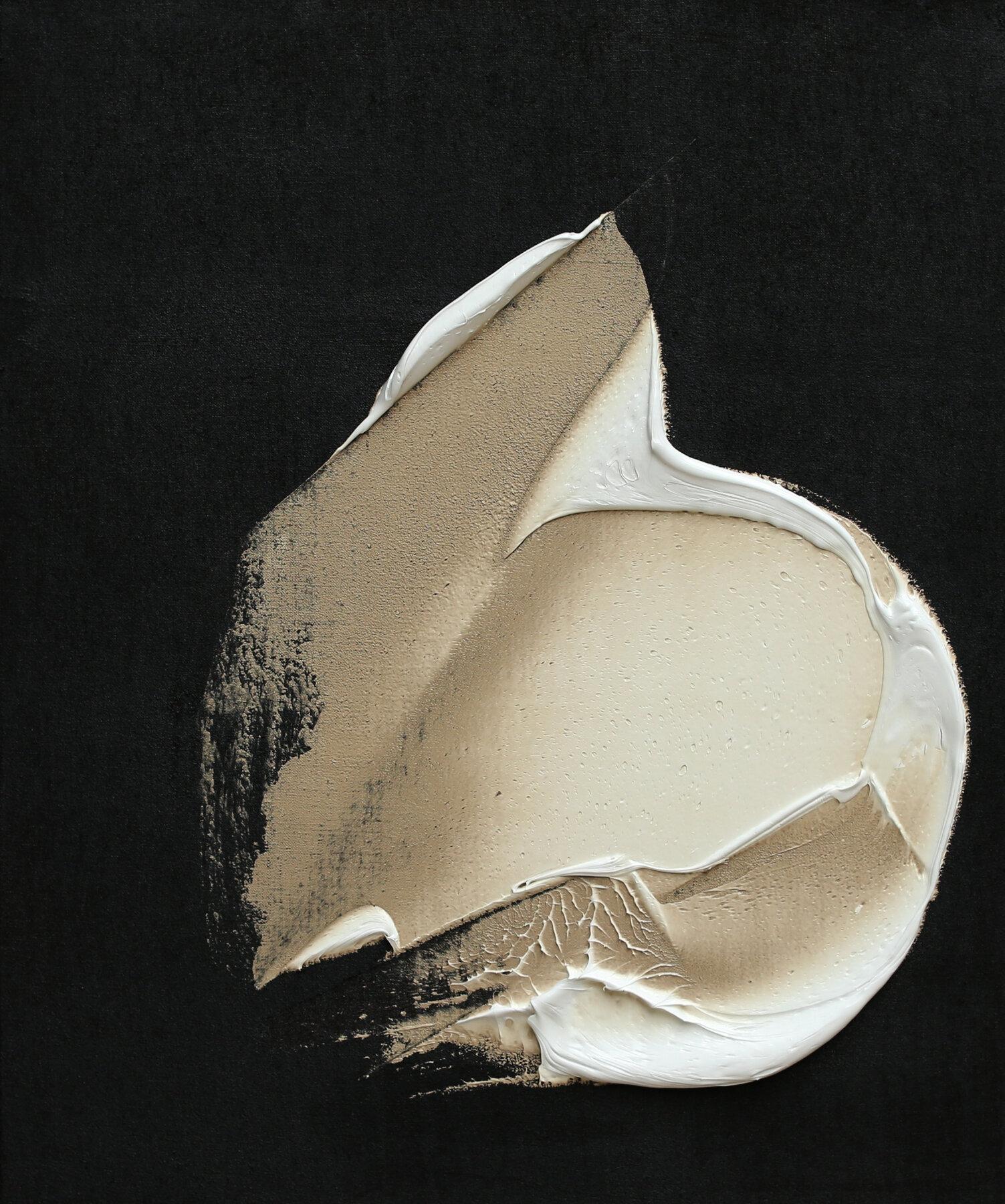 "An Untarnished Birth, oil & tar on linen, 24""x20"", 2018"
