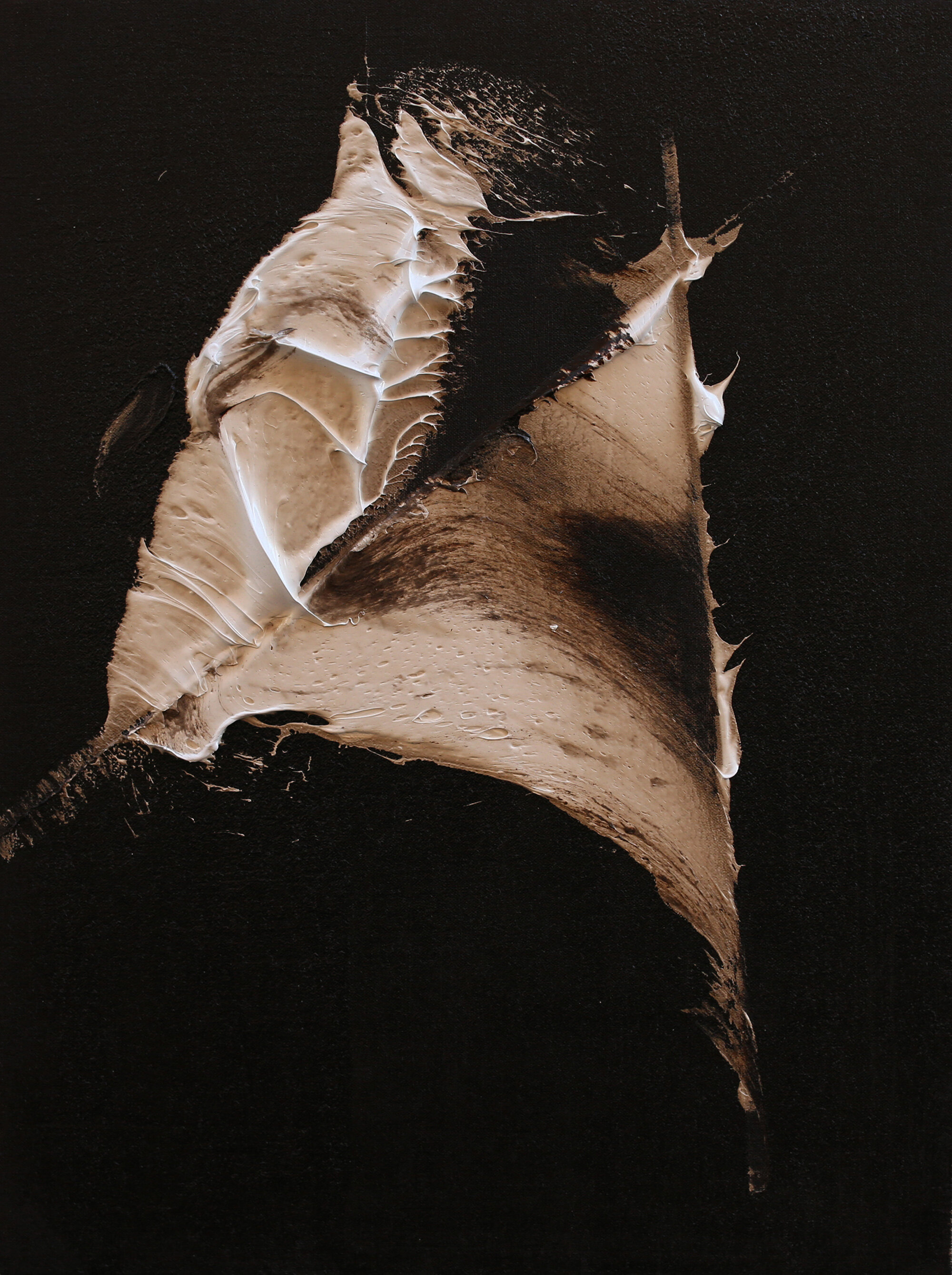 """The Light You Bring, oil and tar on linen, 24""""x18"""", 2016"""