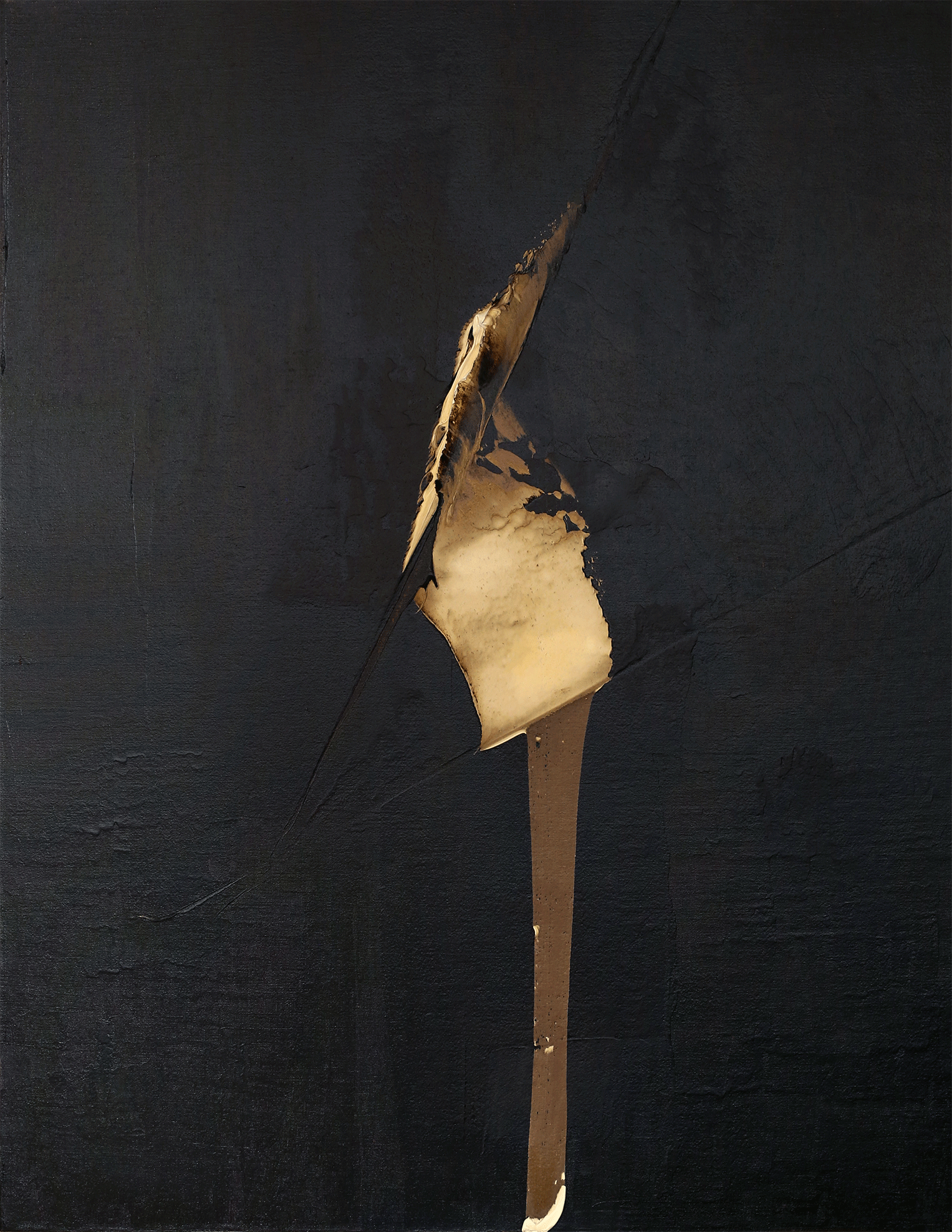 """The Transition, oil and tar on canvas, 48""""x38"""", 2015"""