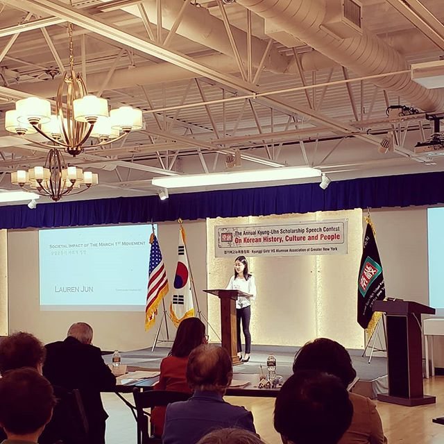 "Lauren ""Societal Impacts of the March 1st Movement"" #scholarship #kscholarship #31운동100주년 #highschool #speechcompetition"
