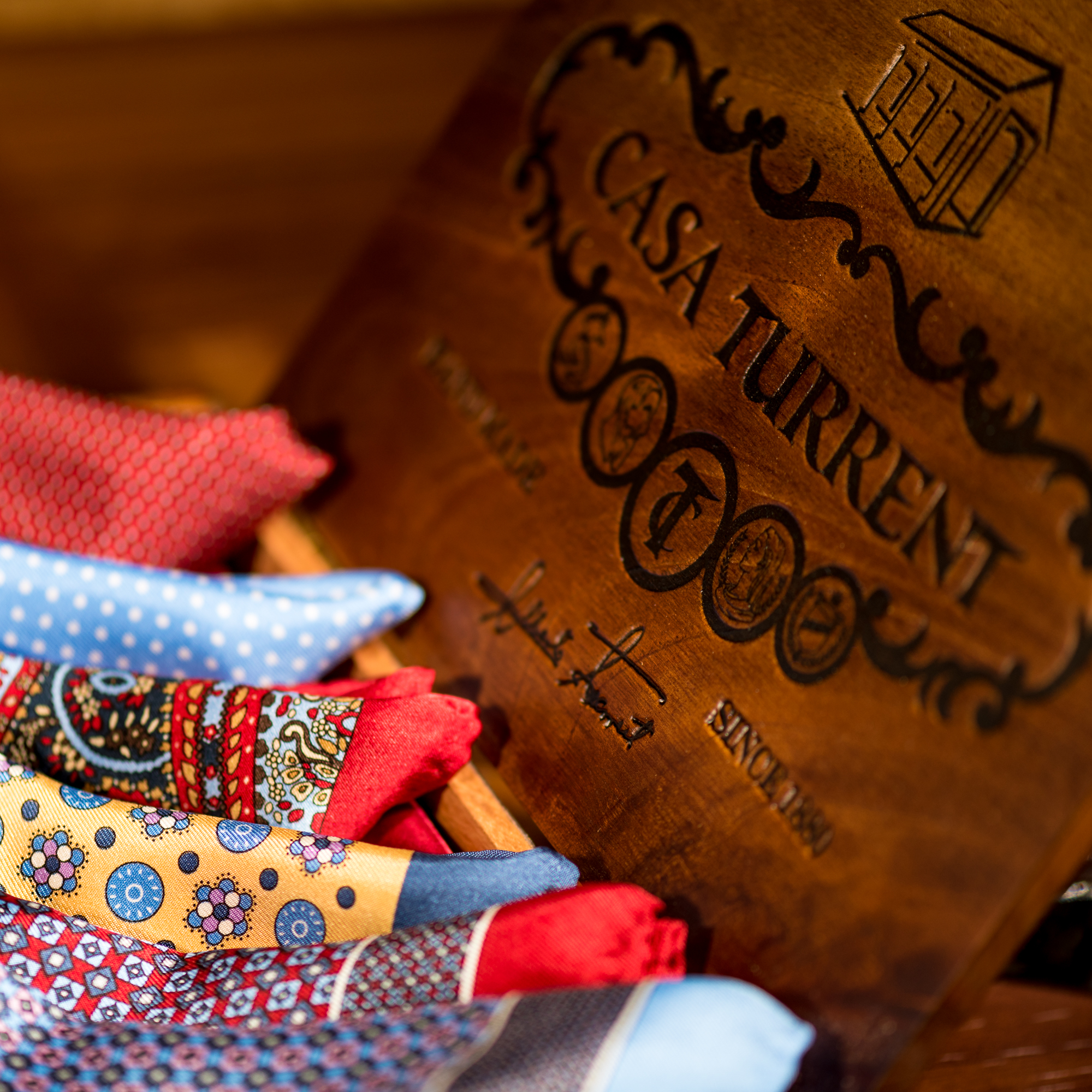 Pocket Squares in a box