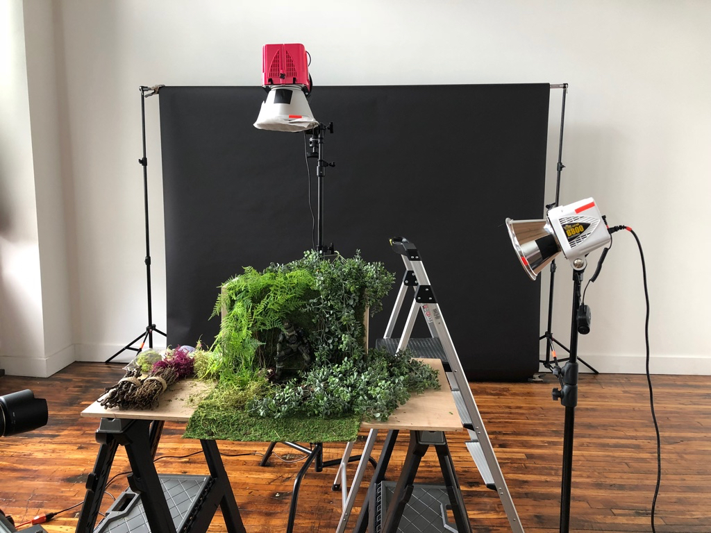 Setting up lights for the first image