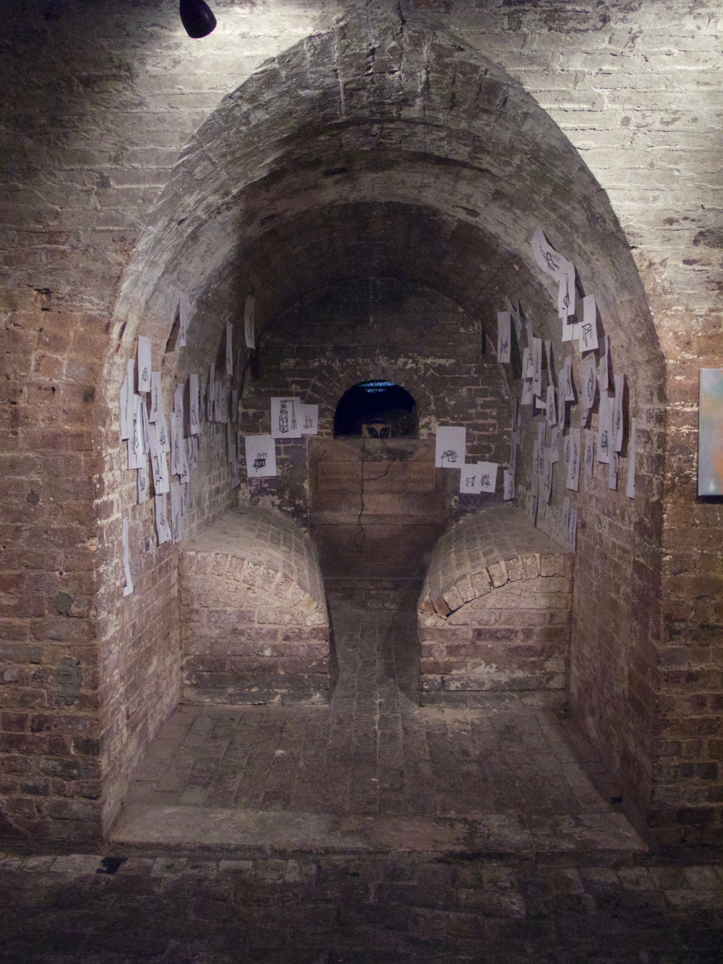 Ideas Never Die, installation at Crypt Gallery