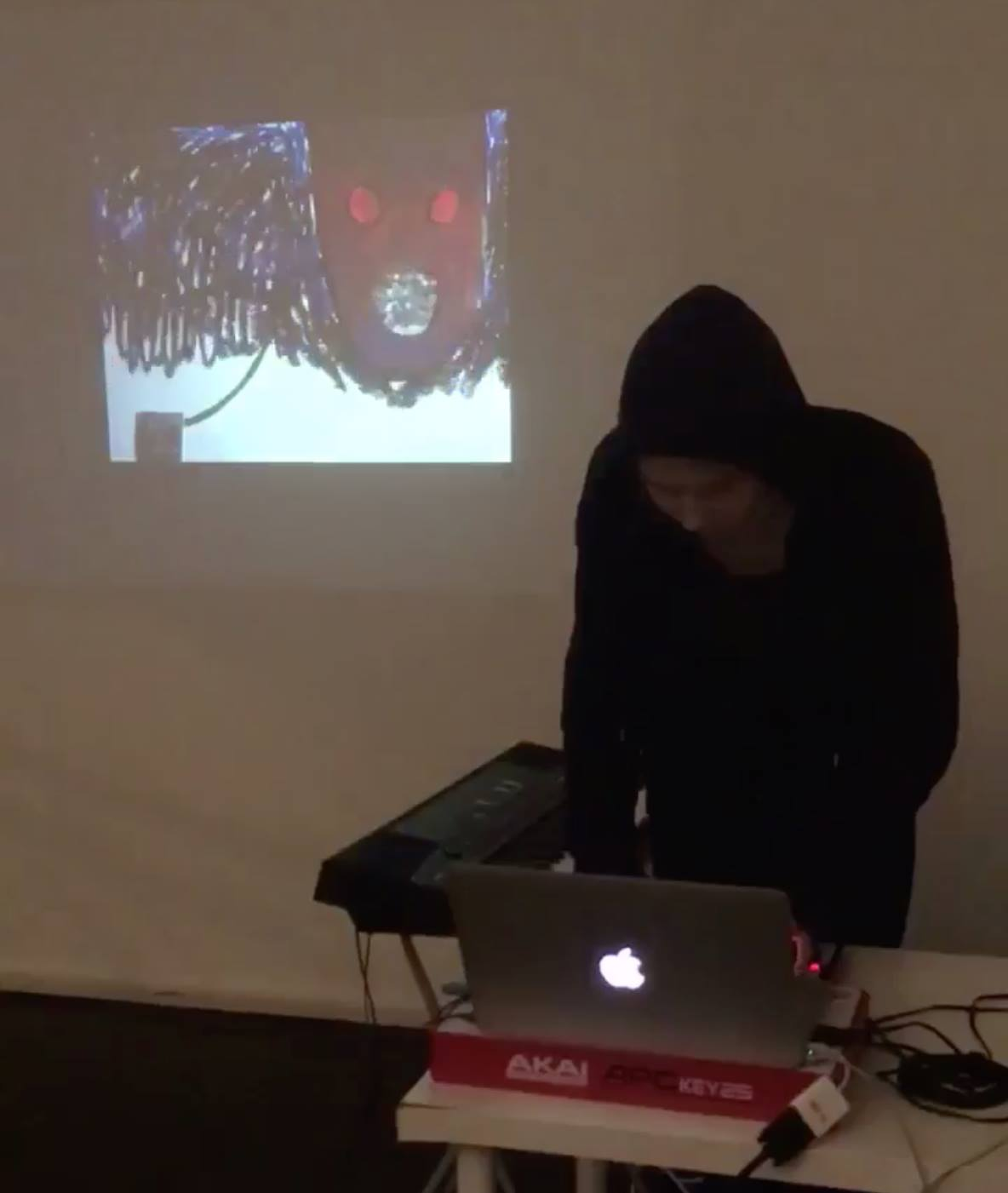 Performing with Voder, Chalton Gallery, January 2018