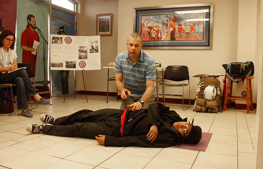 Training Director Taggart Long certifying medics in Salt Lake City, Utah Feb. 4, 2018.