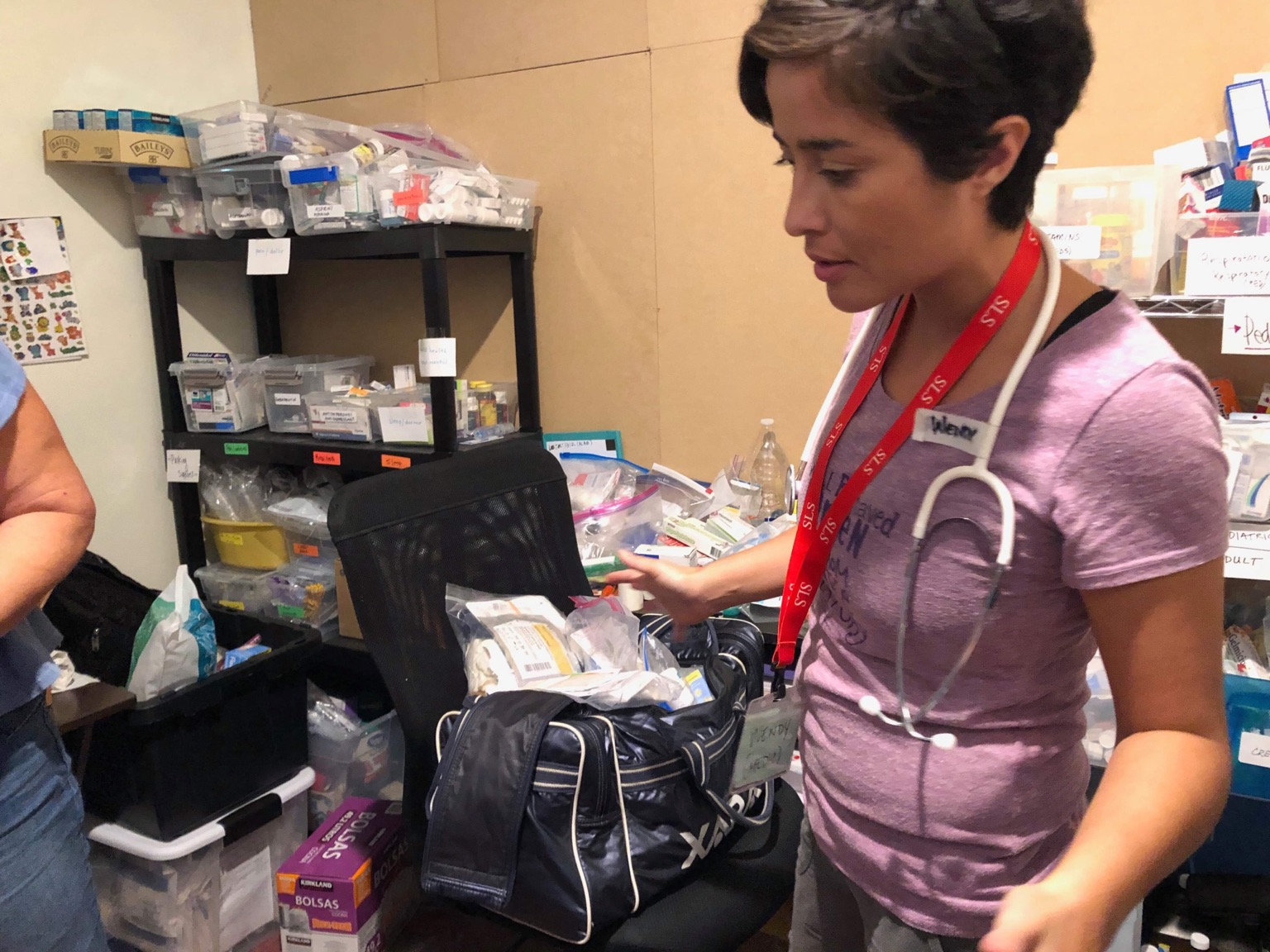 Frontline member, Wendy Barranco works at medical clinic in Tijuana, Mexico.