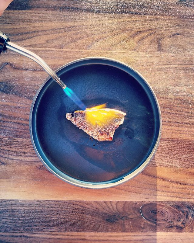 Perch, birch syrup, sea salt.