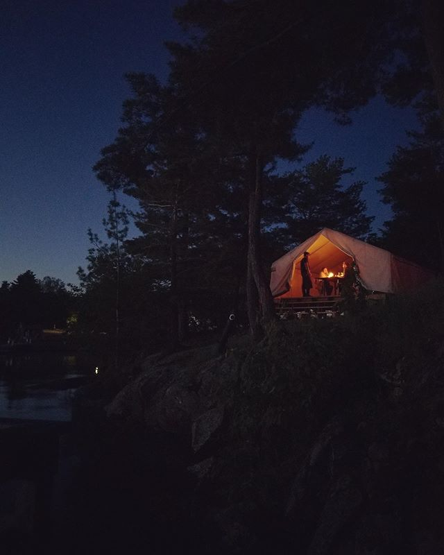 Happy Canada Day from our tiny restaurant in a tent, on Georgian Bay. 🇨🇦🌲🌊