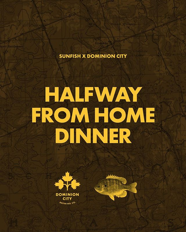 Our regular season is over, but we wanted to do something special for the Fall. Introducing The Halfway From Home Dinner on October 12th, in collaboration with @dominioncity! Our restaurant heads inland, to a forest just south of Algonquin Park. We'll be serving up a fall feast, complete with pairings of @dominioncity beer. Seven courses of Canadian cuisine served in our tent, in a field, in a forest, in Maynooth, Ontario. We will have a complementary shuttle to take guests to and from their hotel/motel/Airbnb in the area to ensure everyone can enjoy themselves and stay safe. Why Maynooth? It's exactly halfway between where we typically do our dinners at @shop_thehive and the @dominioncity brewery in Ottawa. Tickets in the bio! Any questions shoot us a DM!