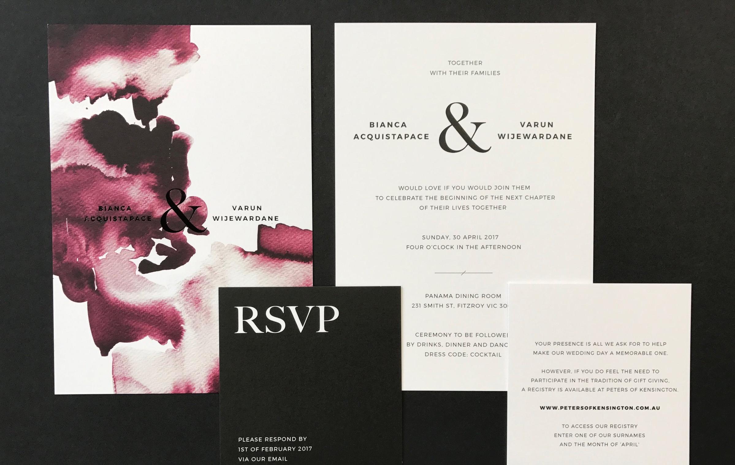 B+V's Wedding Invitation Pack
