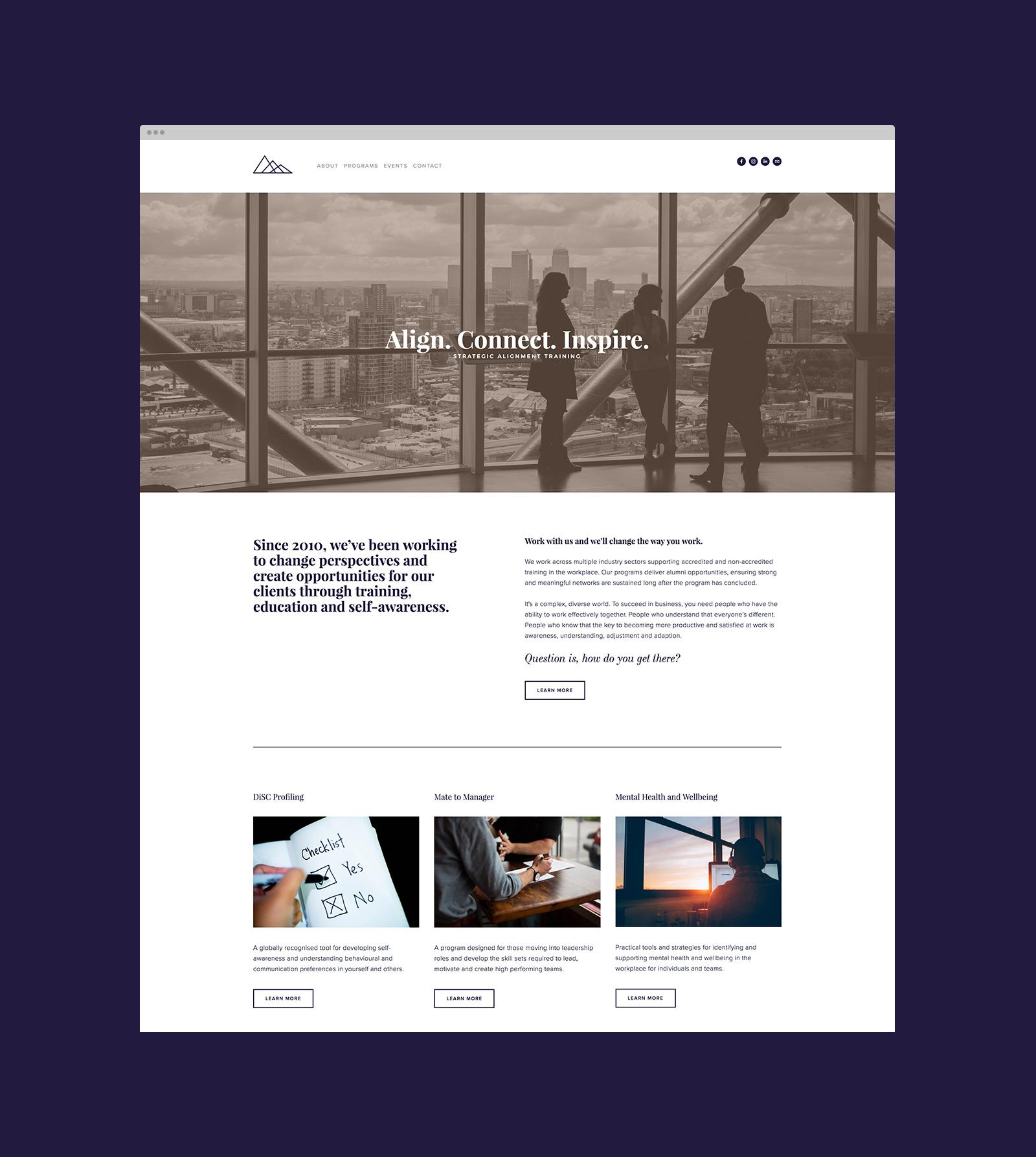 SAT Website Home page design