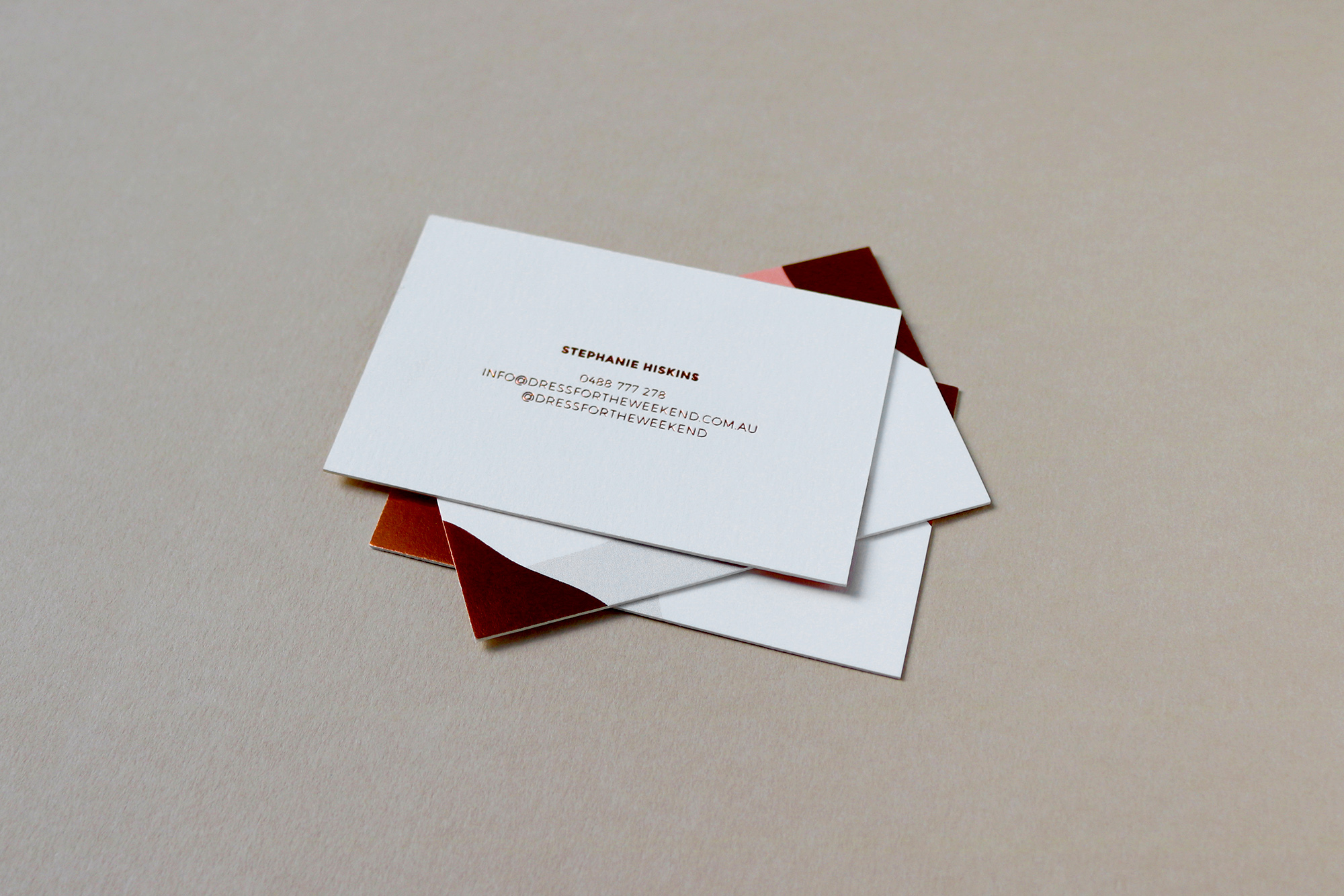 DFTW Business Card design + Copper Foil