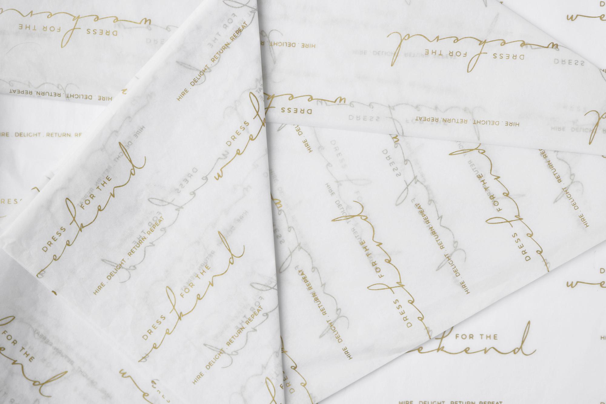 DFTW Tissue Paper Design + Gold PMS