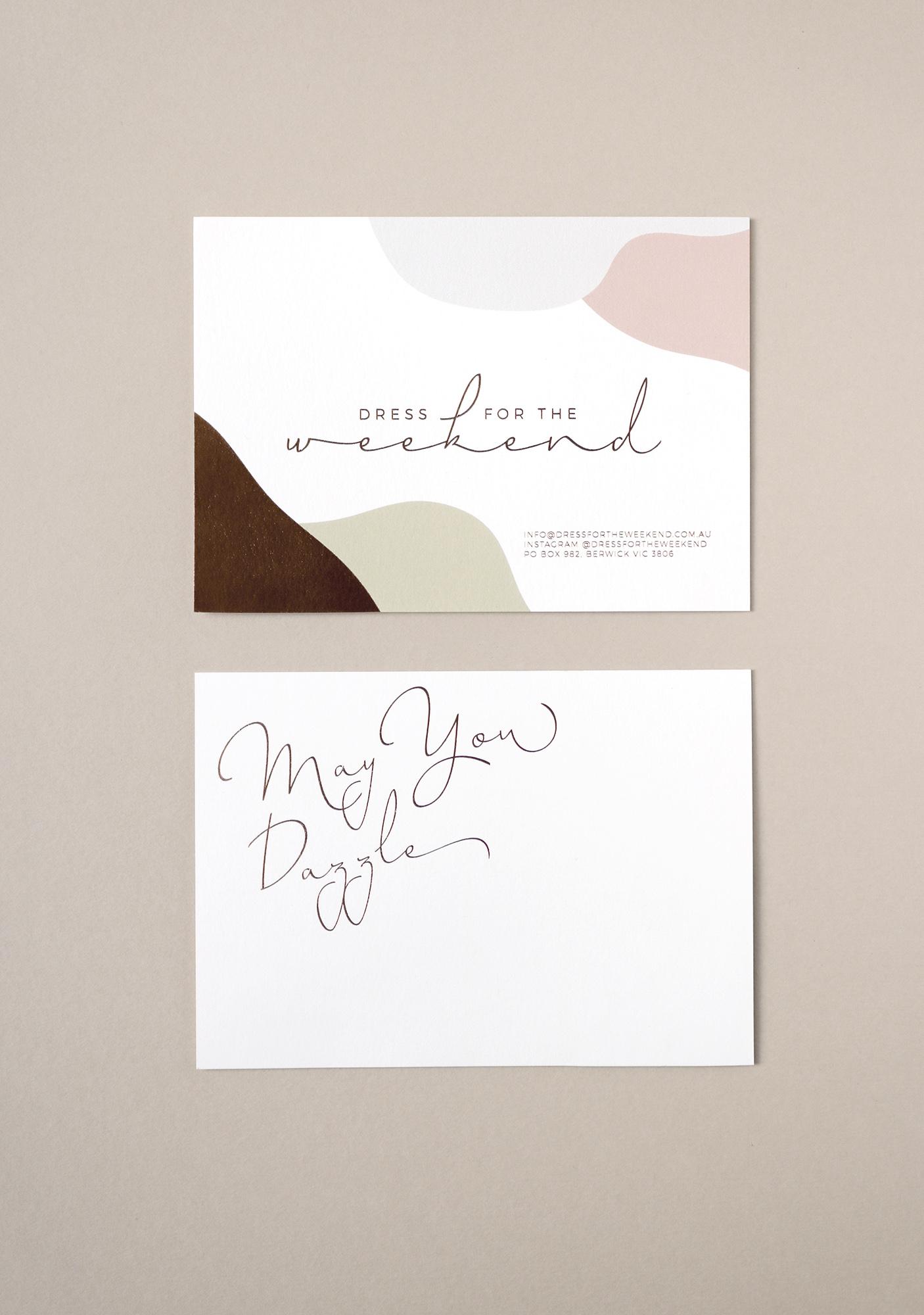 DFTW Thank You Card Design + Copper Foil
