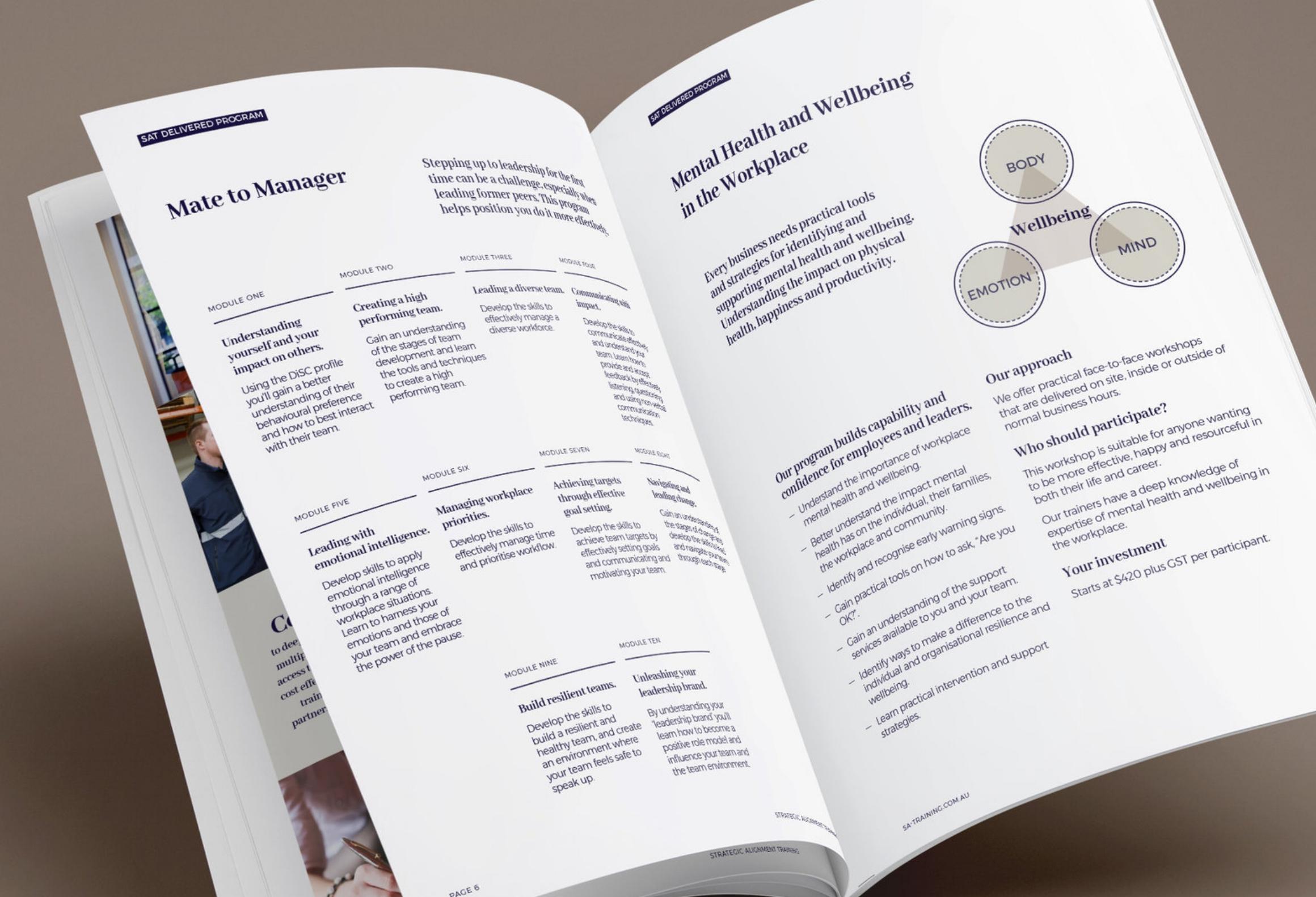Booklet Design detail