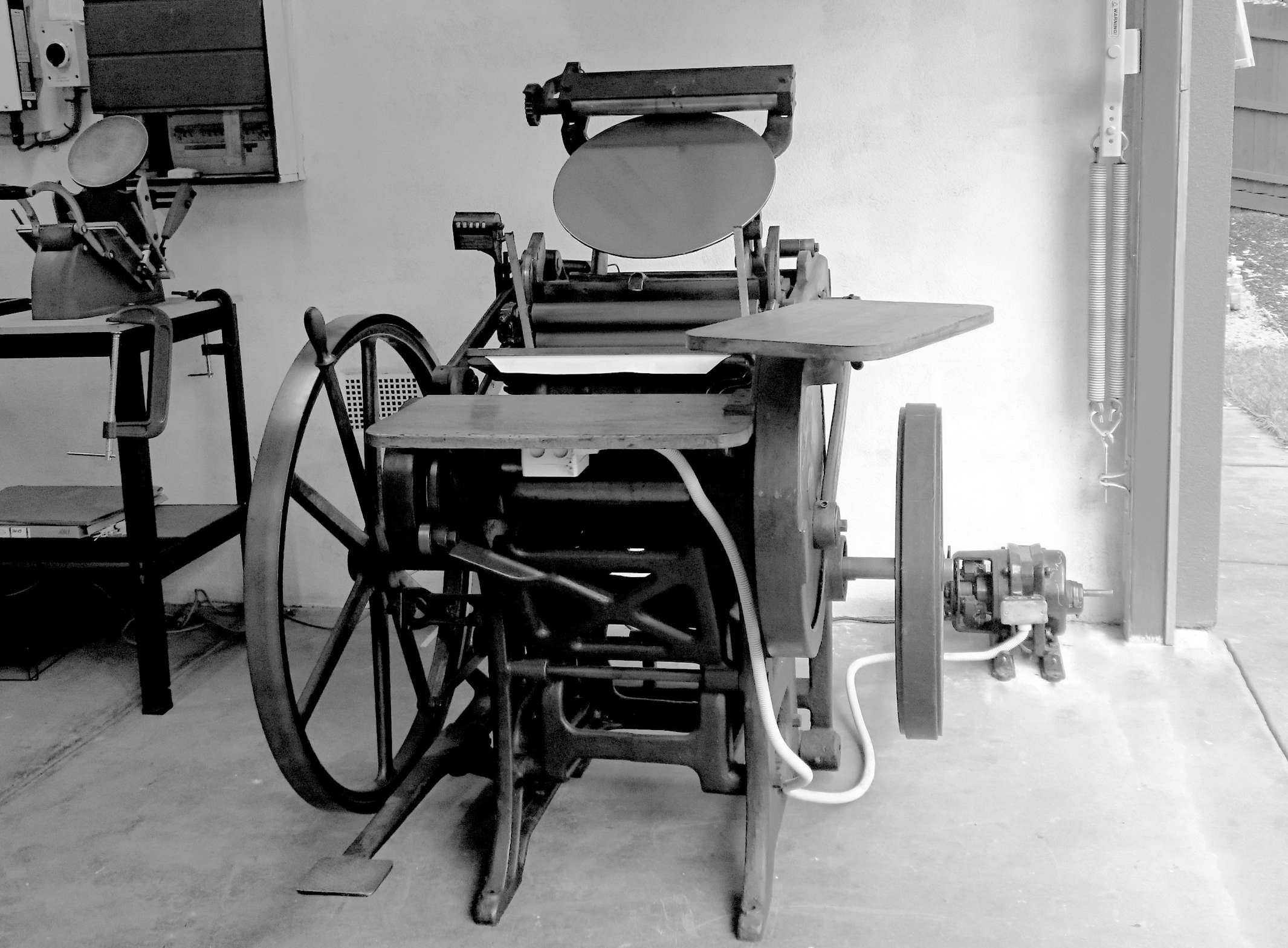 Georgia, the 1925 Chandler and Price Platen Press.
