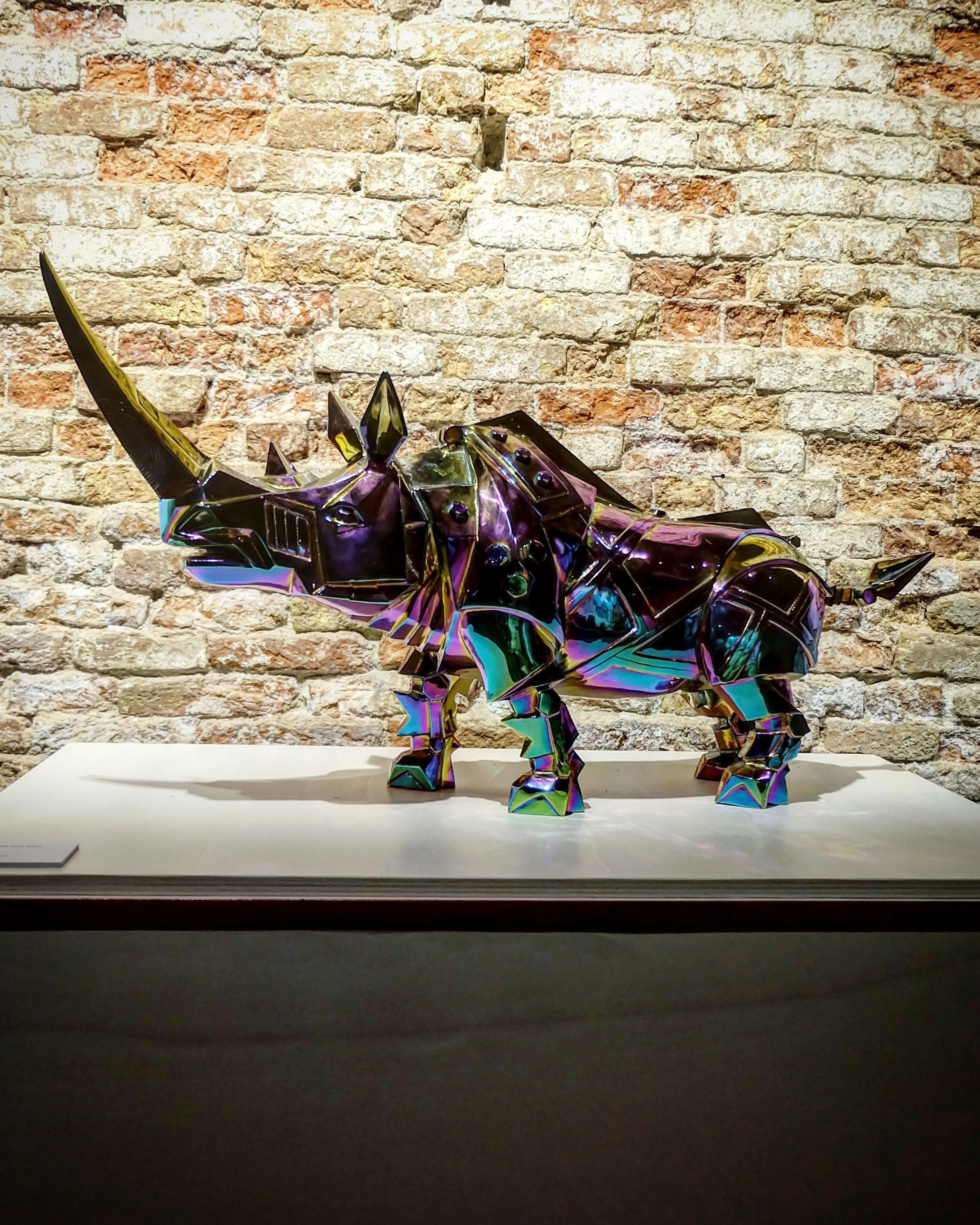 Rhinoceros: Luxury's Fragile Frontier Champagne Rhino by Shih Li-Jen