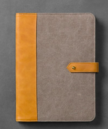 Canvas & Leather Tablet Sleeve - Grey/Tan - Hearth & Hand™ with Magnolia  $16.99