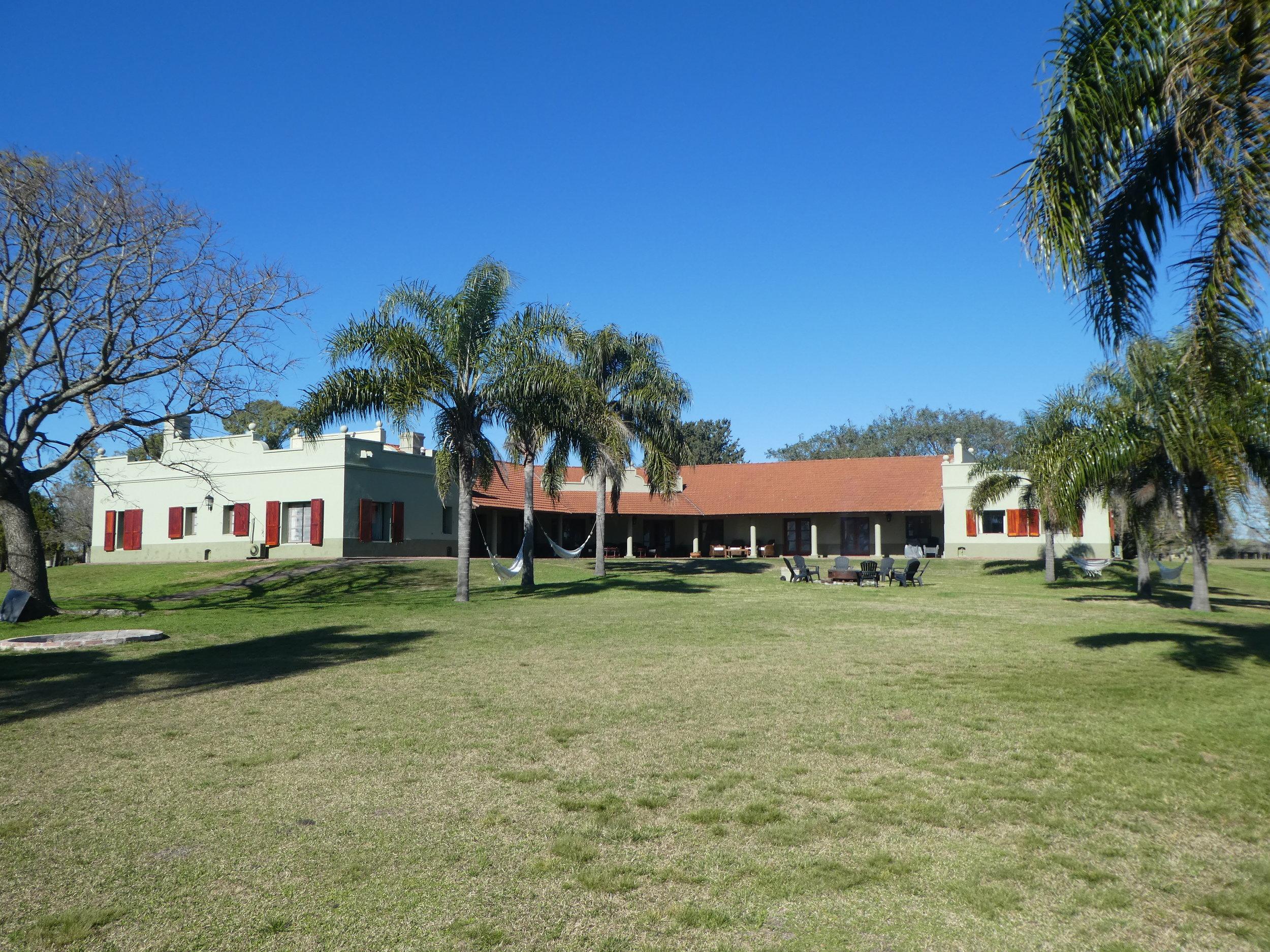 The lodge at Los Laureles in Entre Rios Province.
