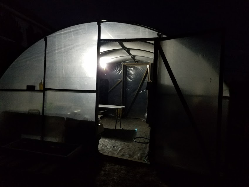 New light in the packing shed!