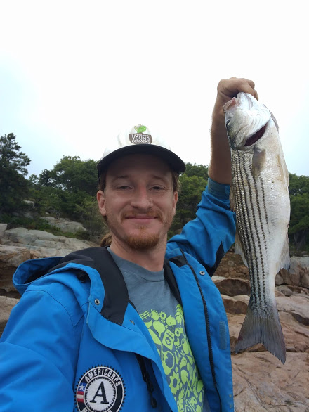 "Bryan caught a mess of fish, though alas, none of the requisite ""keeper"" size (prounounced  ""keepah"" in Massachusetts.)"