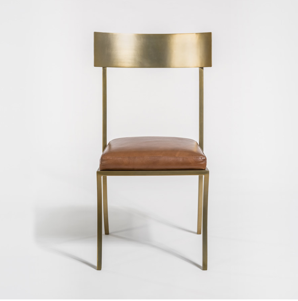 Markel Antiqued Brass Dining Chair Miller S Home Furnishings