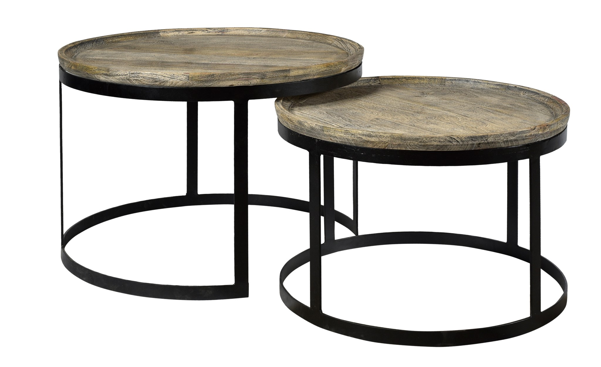 Bengal Manor Round Nesting Cocktail Tables Miller S Home Furnishings