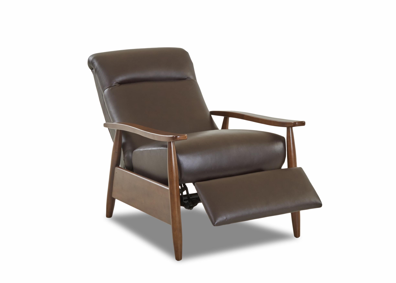 Customizable Leather Elanor High Leg Reclining Chair Miller S Home Furnishings